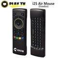 Inglês russa i25 K25 FM5 Pro Fly Air Mouse 2.4 GHz teclado sem fio ir remoto motion sensing jogo combo fm5 remoto controlador