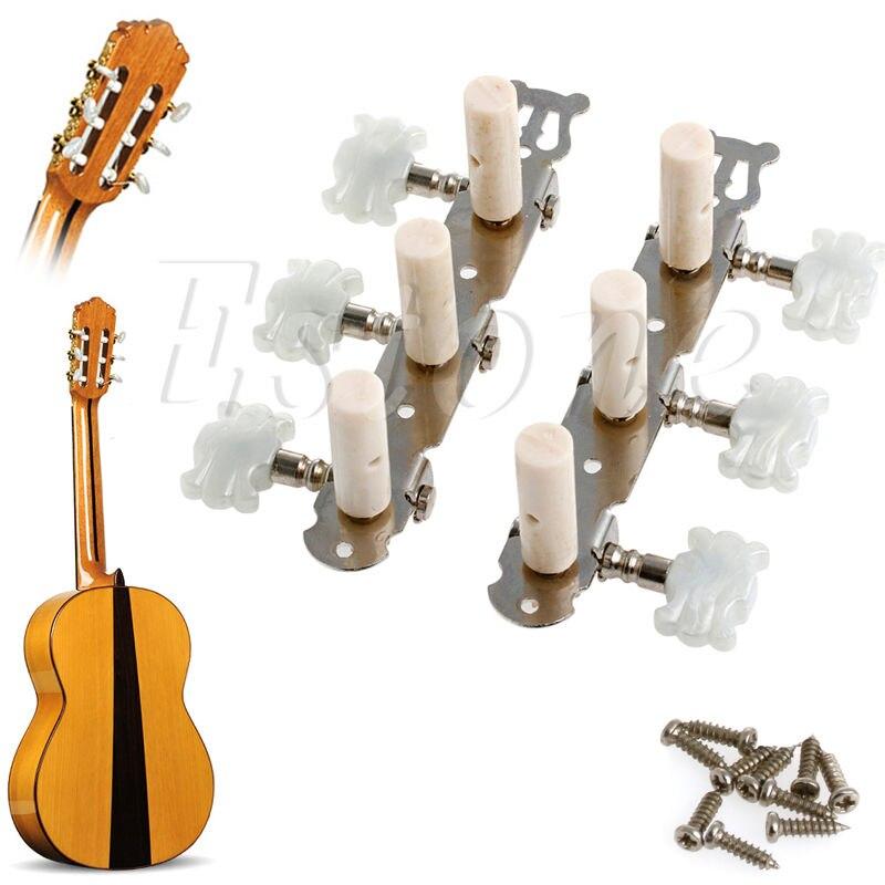 B39 New 1 pair Guitar Tuning Pegs Machine Tuners White Machine Head for Classic Guitar