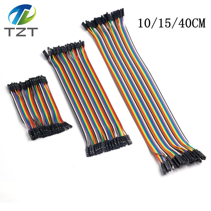 TZT Dupont Line 10cm/15cm/40cm Male To Male + Female To Male And Female To Female Jumper Wire Dupont Cable For Arduino DIY KIT(China)