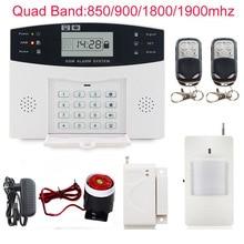 DC12V pantalla LCD Wireless Home Seguridad GSM 99 zonas inalámbricas + 8 zonas cableadas defensa ayuda SMS y marcación alarma