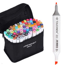 60 Color Set TOUCHNEW 6 Sketch Children Painting Highlighter Underlining Alcohol Based Marker Pens