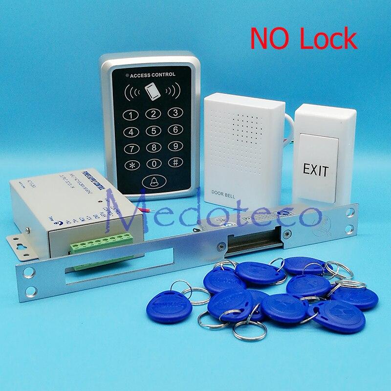 DIY Full RFID Door Access Control System Kit Set Long Type Electric Strike Lock 12V Power