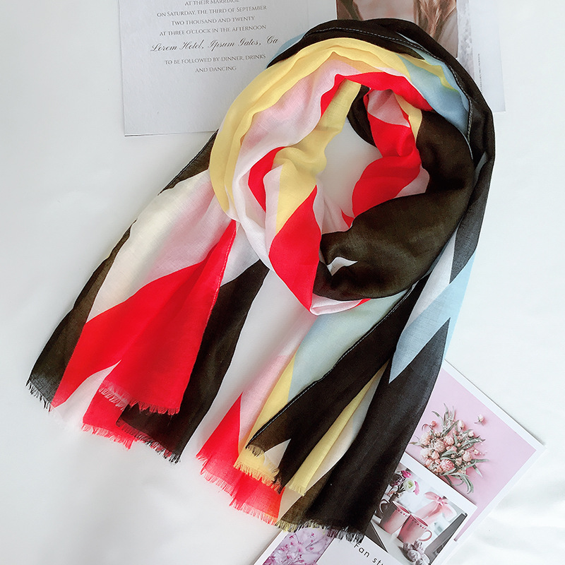 2019 Fashion Newest Women Floral Printed Scarf 4Colors 10pcs/lot
