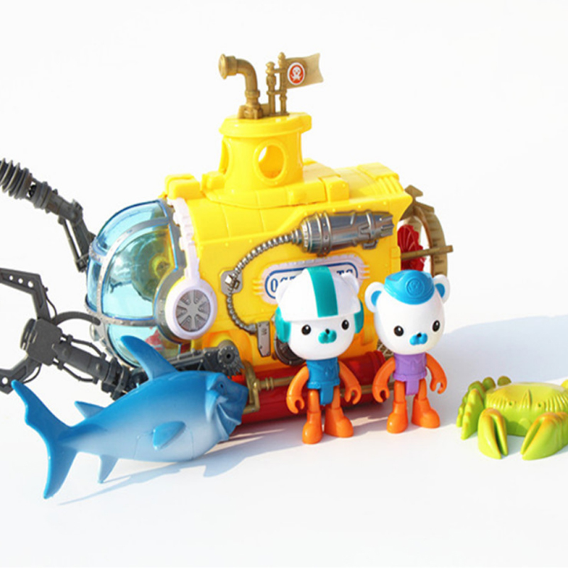 2017 New Cartoon The Octonauts Action Figure Toys Adventure submarine Christmas gifts for children With Original box