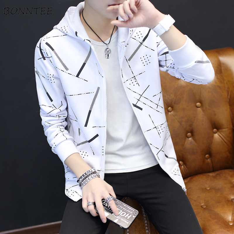 Jackets Men Korean Style Casual Males Coat Students Slim Fit Mens Printed Long Sleeve High Quality Comfortable Ulzzang Daily 21