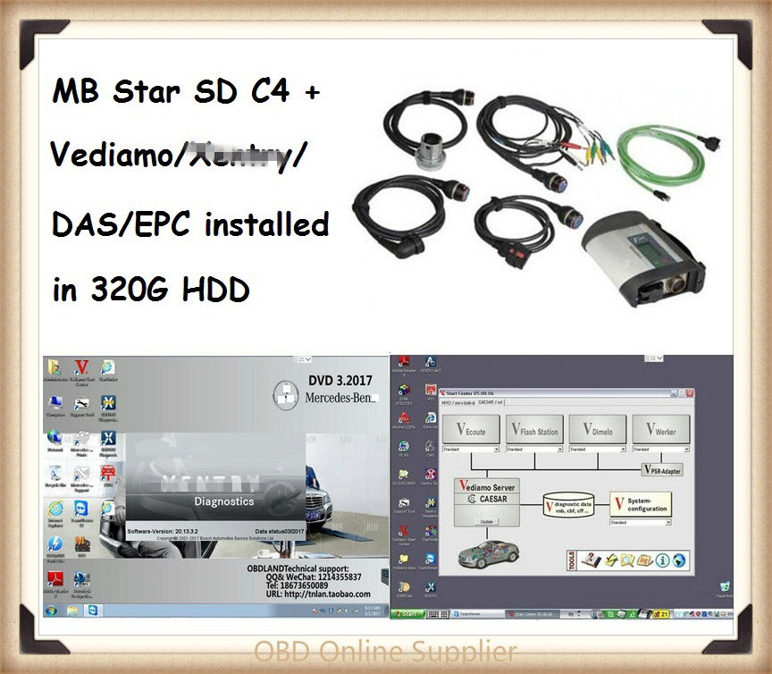 2018 Super MB Star C4 SD Connect C4 with Latest xentry DAS