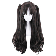 Fate/Stay Night Rin Tohsaka Two Ponytails Wig Cosplay Costume Fate Grand Order Women Long Synthetic Hair Halloween Party Wigs