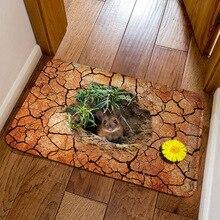 Модный коврик для дома с 3D изображением мыши, современный коврик для прихожей, коврик для детской комнаты, Противоскользящий коврик