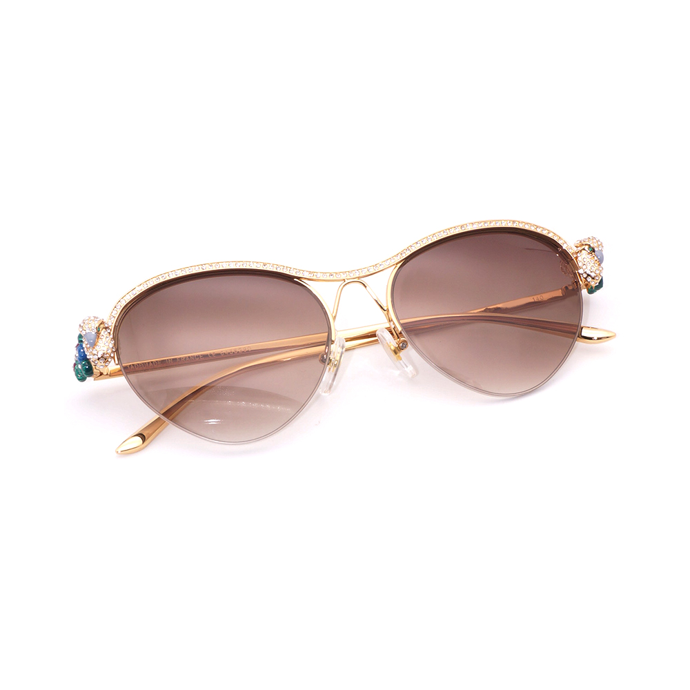 Cat Eye Sunglasses Women Carter Glasses Frasme Diamond Sunglasses Stone Decoration Eyewear Gafas Oculos Feminino Lunette Female