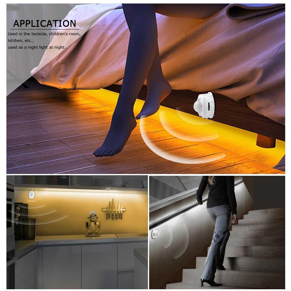 PIR датчик движения светодиодный светильник 12 В постоянного тока Светодиодная лента 5050 + адаптер + датчик движения переключатель для DIY кровать шкаф светильник