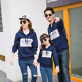autumn 2017 new family look  Father mother Baby Long sleeve Sweatshirts  Cotton t-shirts  Couple clothing wholesale