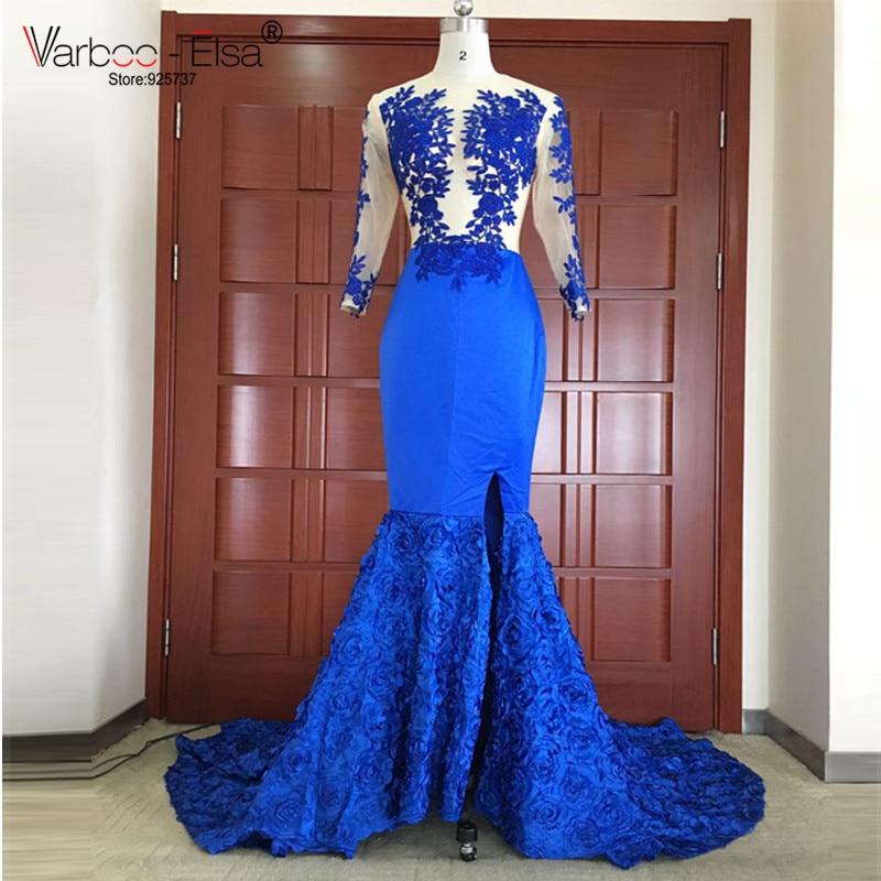 Aliexpress.com : Buy Royal Blue Mermaid dress Split Prom ...