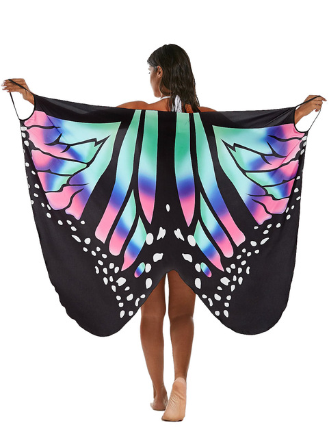 Women's Butterfly Wings Beach Cover Up 4