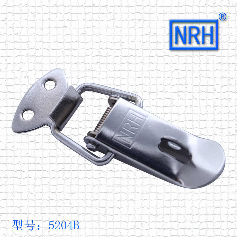Stainless Steel Metal Buckle Clouds Silver Hardware Cabinet Boxes Spring Loaded Latch Catch Toggle Hasp 5204B-55