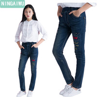 Jeans Fall Girls Spring Girl Pants 2017 Children New Skinny Denim Trousers For 6 14 Years