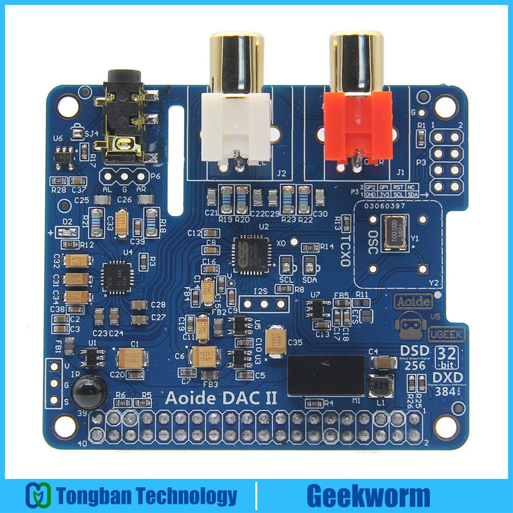 DAC II ES9018K2M Hifi Sound Card 32bit DSD APE FLAC WAV Music Player Audio Expansion Board