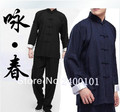 Frete Grátis Wing Chun Uniforme Bruce Lee Fist of Fury Kung Fu Roupas Tai Chi Martial Art Suit Roupas Wushu