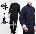 Frete Grátis Wing Chun Uniforme Bruce Lee Fist of Fury Kung Fu Roupas Tai Chi Martial Art Suit Roupas Wushu