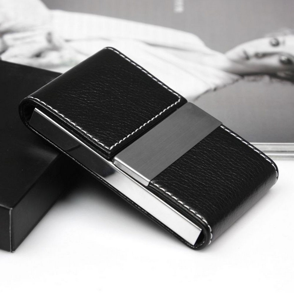 New Metal Wallet Men Women Stainless Steel Business Card Case Travel Credit Card Package Card Holder Box Leather Money Billfold
