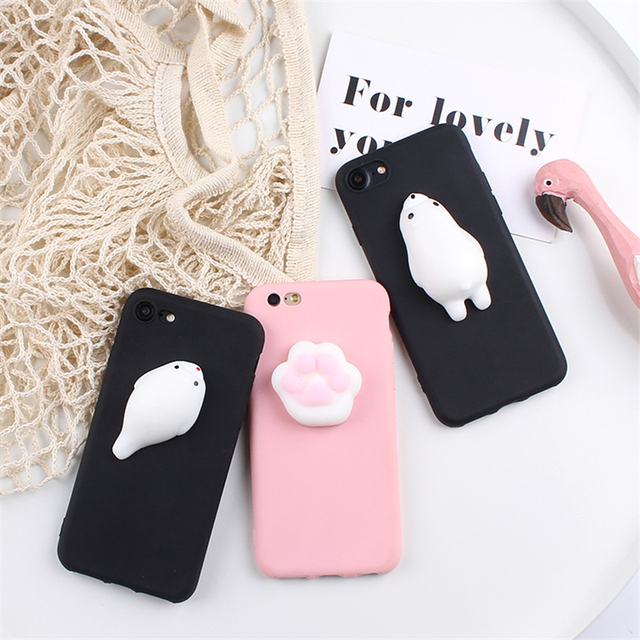 brand new 43913 093d8 US $3.48  XINGYUANKE 3D Squishy Phone Case For VIVO V7 Case Soft Silicone  Cute Cartoon Cat Bear Back Cover For VIVO Y75 Flip Coque Capa-in Fitted ...