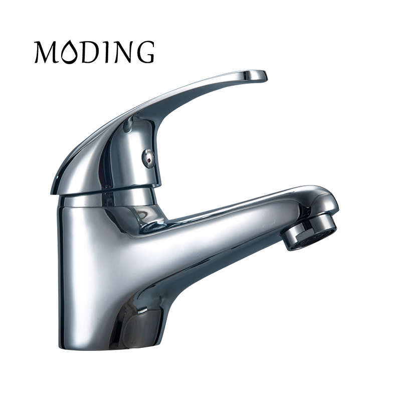 MODING Bathroom Sink Faucet Sink Tap Solid Fine Handle Bottom ...