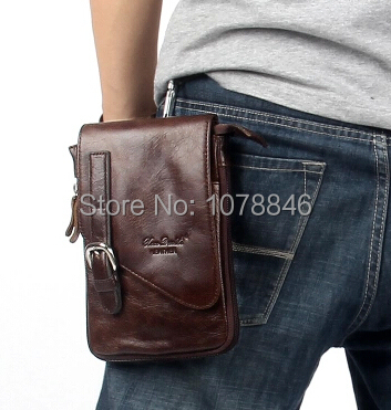 100% Cowhide Men's Waist Bag belt men bum anny pack Casual Pack Genuine Leather Travel bag Man men waist bag