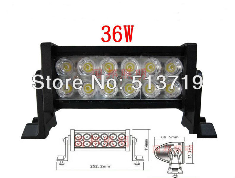 Dongzhen 36W Off Road Light Bars OFFROAD LED Light LED Working Light Free shipping 10-30 DC