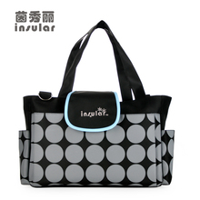 New Style Free Shipping Fashion Baby Diaper Bags Multifunctional Nappy Mommy