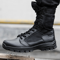 2017Men Military Tactical Combat Outdoor Sport Army Boots Camouflage Hiking Shoes Desert Botas Travel Male Leather