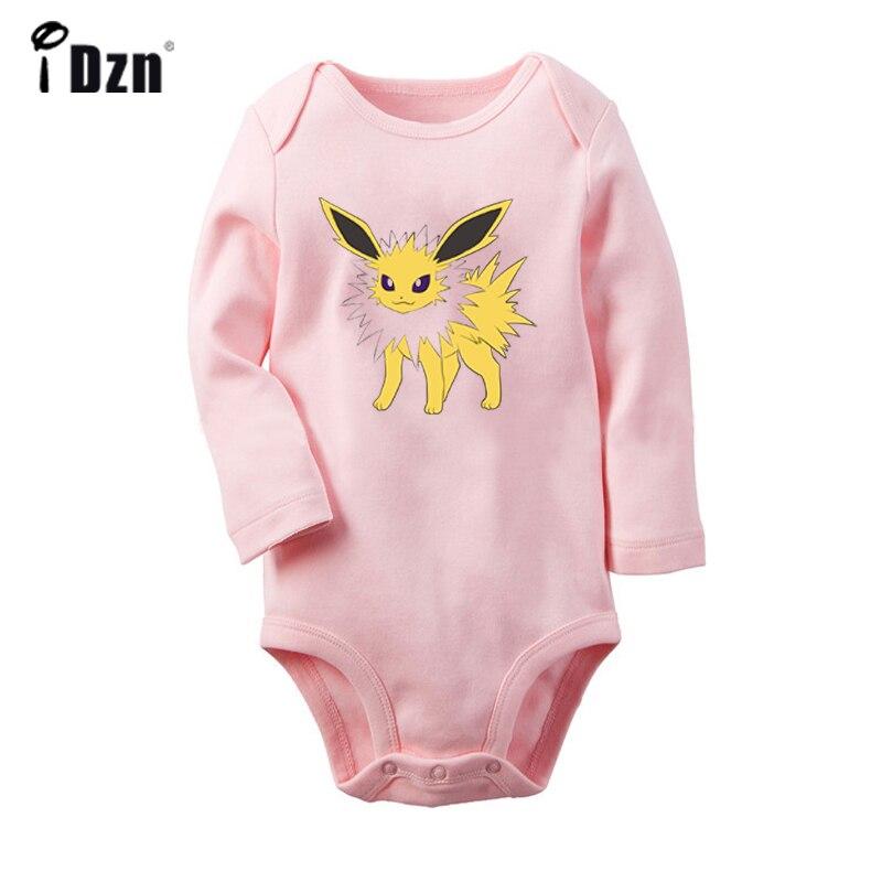 Pokemon Umbreon Sylveon Leafeon Jolteon White Design Newborn Baby Bodysuit Toddler Long Sleeves Onsies Jumpsuit Cotton Clothes
