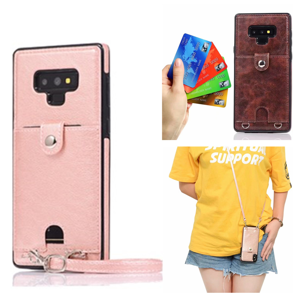 <font><b>case</b></font> for <font><b>samsung</b></font> galaxy note 9 8 s10 s8 s9 plus <font><b>s7</b></font> <font><b>edge</b></font> <font><b>case</b></font> cover fashion pu leather <font><b>wallet</b></font> card with shoulder strap phone bag image