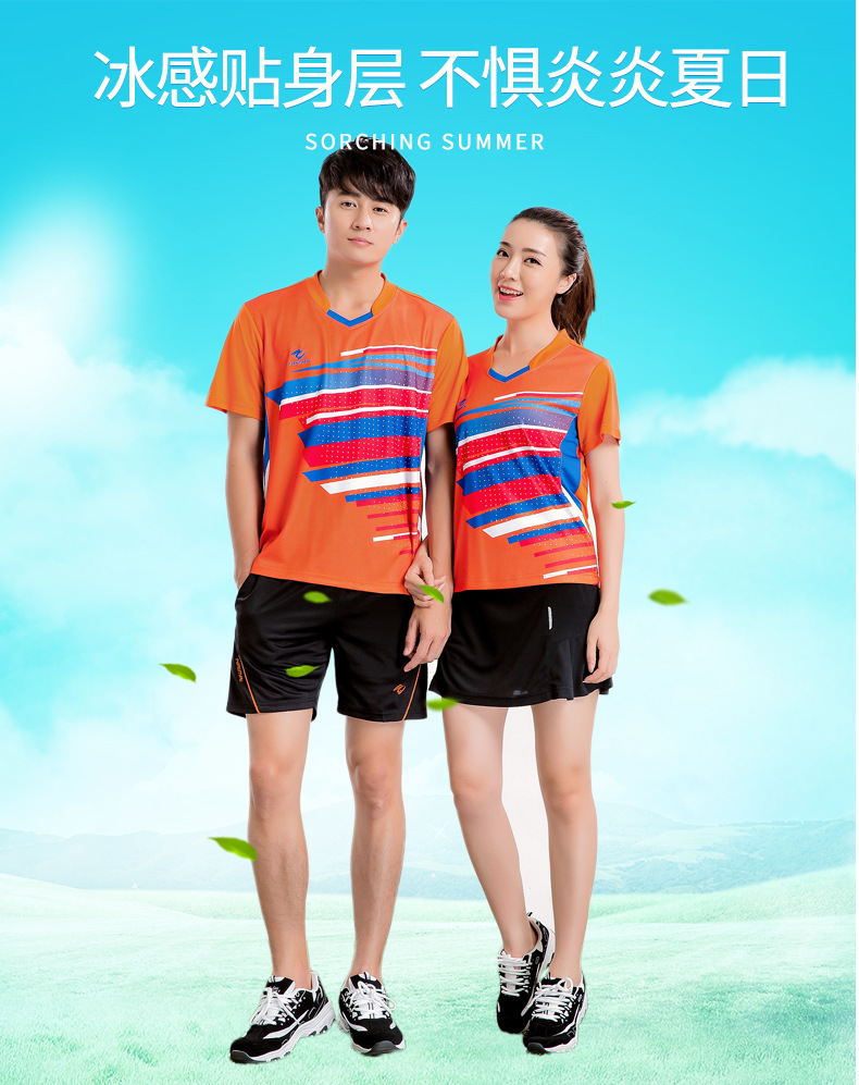 Men/women tennis sport jerseys,woman tenis masculino shirt+shorts,badminton/table tennis suits,team tennis polo t-shirt for man