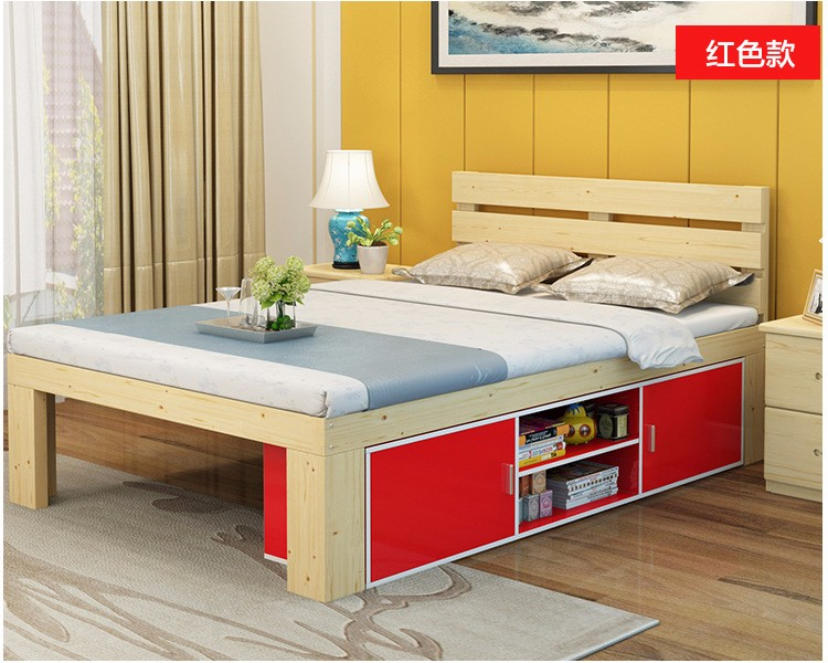 Children Beds Kids Furniture Home Furniture Solid Wood Kids Bed With 6 Drawers Lit Enfant Baby Nest Moveis Muebles 160*100*40 Cm Children Furniture Furniture