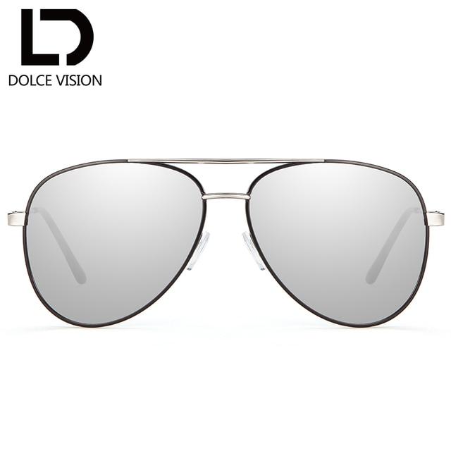 DOLCE VISION Grande Taille Pilote Argent Miroir lunettes de Soleil Femmes  Design De Mode Lunettes de 7a5322206ea3