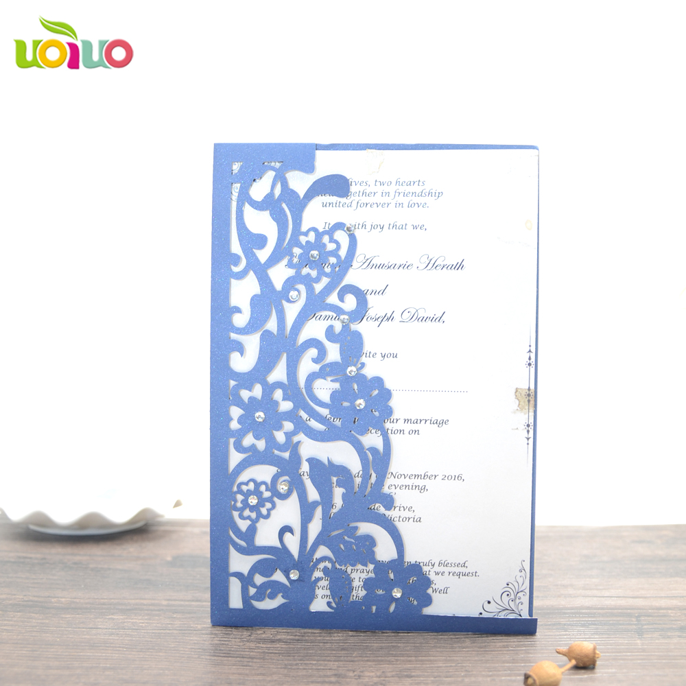 ̀ •́ Free shipping flower design Hot sale Wedding Invitations Cards ...