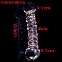 18.5*3.1 cm Glass Dildos Penis Anal Beads Butt Plug In Adult Games For Couples , Erotic Anus Sex Toys For Women And Men Gay