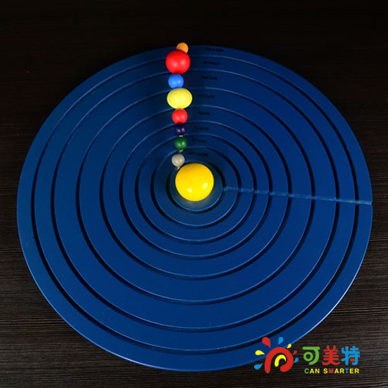Montessori Materials Education Eight Planet Solar System Model Beech Wood Science Toys  Early educational toys Can Smarter montessori materials the pythagorean theorem blocks a pack calculate beech wood math tools early educational toys can smarter