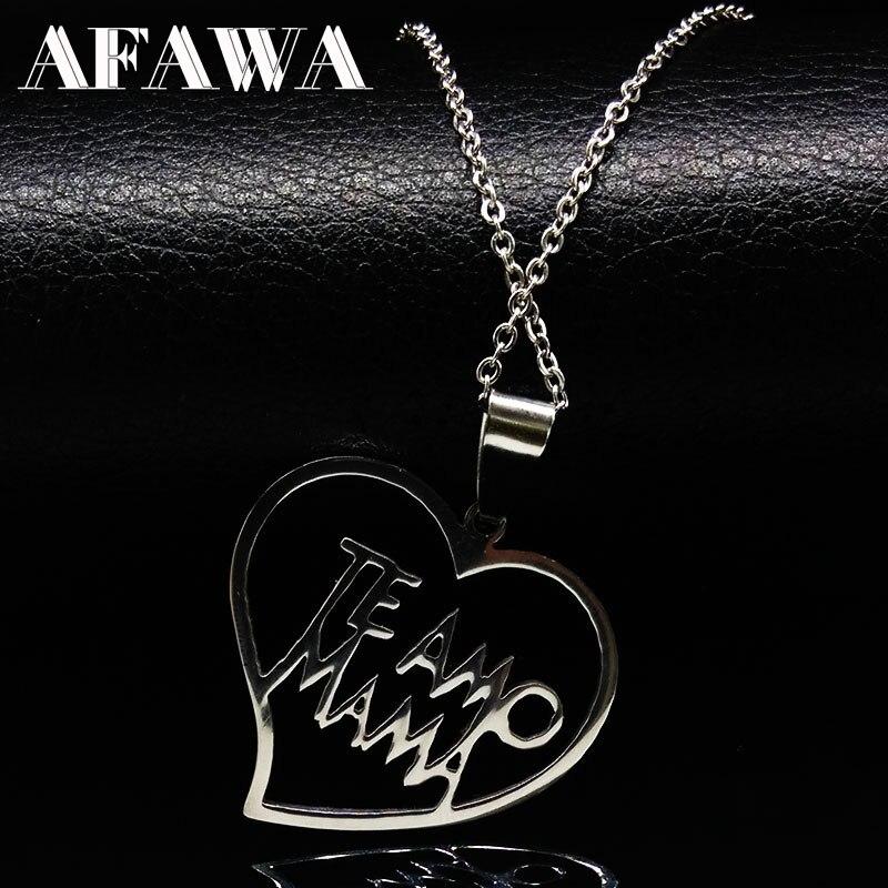 MAMA Family Edelstahl Halsketten für Frauen Silber Farbe Mum Halskette Muttertag Geschenk Schmuck acero inoxidable N3209