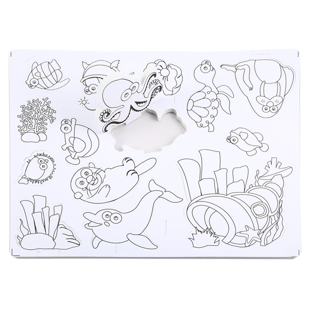aliexpress com buy 3d drawing sea animals puzzle toy set for