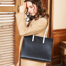 hot deal buy genuine leather women handbags simple and stylish shoulder bag female large capacity shoulder bags made of cowhide bags for lady