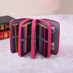Sekretny ogród woda kolor ołówki przypadku szkolne piórnik 72 posiadacze piórniki papiernicze narzędzia szkolne Kawaii torba