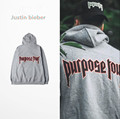 2016 Justin Bieber Purpose Tour Hoodies Men Streetwear Sweatshirts Sudaderas Hombre Men's Hip Hop Pullover Winter Sweat Homme