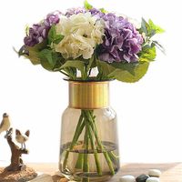 2019 Brand New Nordic Style Perfect Quality Glass Flower Vases Tabletop Vase Decorative Vases Office Store Home Decorations Gift