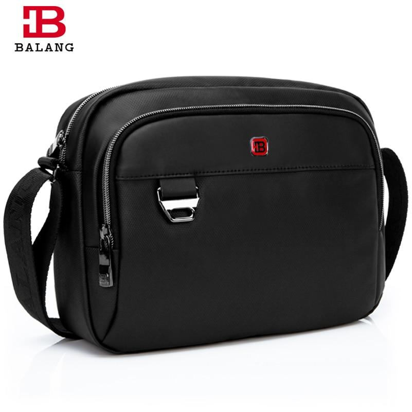 ФОТО BALANG Lightweight Outside Large Capacity Crossbody Bag Functional Multilayer Bag Fashion Travel Men's Business Shoulder Bags