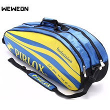 adults head tennis racket bag bagpack breathable sports backpack for 1 2 pcs rackets racquete with shoes bag double shoulder 4-6 Pcs Men Badminton Racket Bag Tennis Bags Waterproof Athlete Backpack For Shoes Double Open Zipper Tennis Bag raquette de