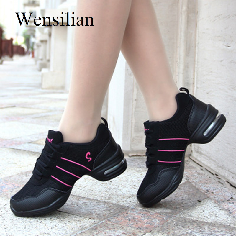 Jazz Sneakers Women Shoes Black Platform Sneakers Lace-up Air Mesh Breathable Zapatillas Mujer Casual Chaussures Femme