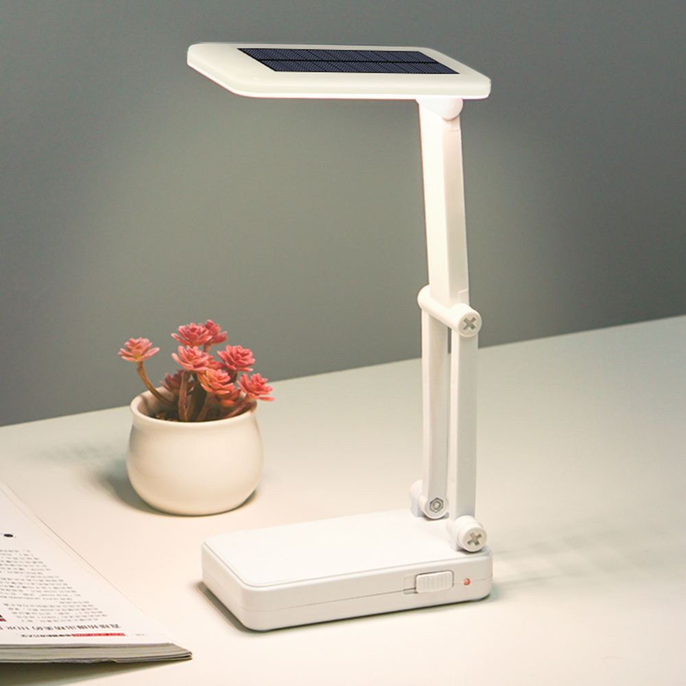 Solar Led Stand Desk Lamp USB Charging Folding Dimmer 1200mAh Rechargeable Bedside Room Study Lamp Light Table Lamps Bureaulamp