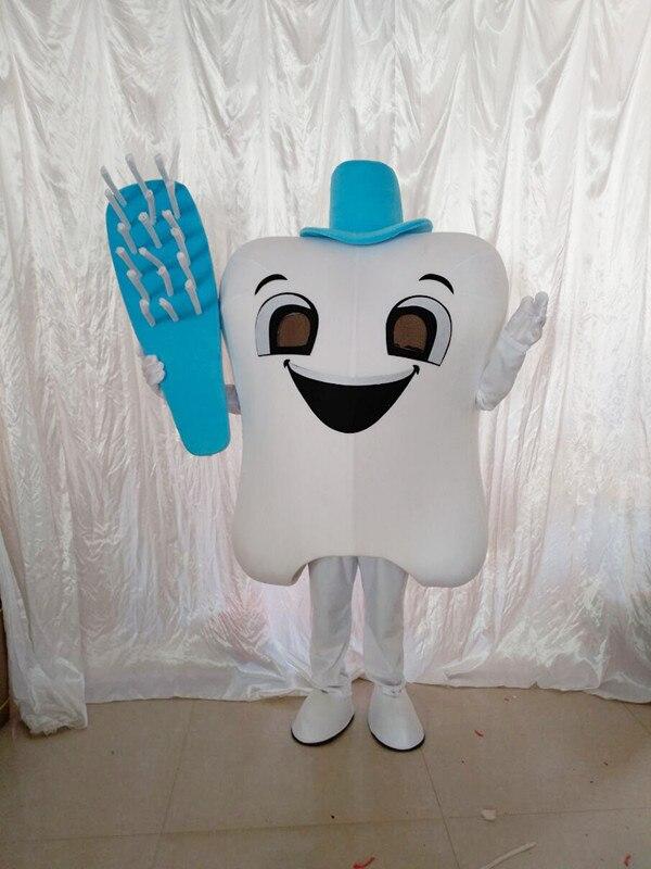 Dent mascotte Costume docteur des dents fête soins dentaires personnage mascotte robe & parc d'attractions tenue santé éducation - 3