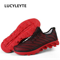 LUCYLEYTE 2018 Blade Men's Tide Shoes Korean Running Shoes Men's Sports Shoes Breathable Mesh Sneakers Men's Running Shoes
