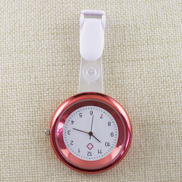 Montre infirmière en Silicone pour femmes en forme de gomme-laque 8 couleurs cadran rond à Quartz pour médecin poche médicale Fob montres broche pendentif